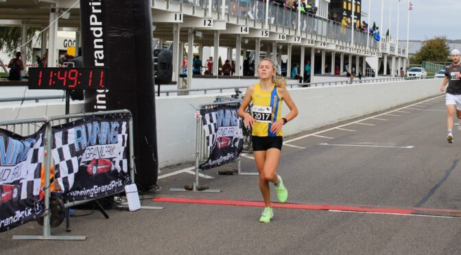 Erin Wells goes full throttle in Running Grand Prix at Goodwood