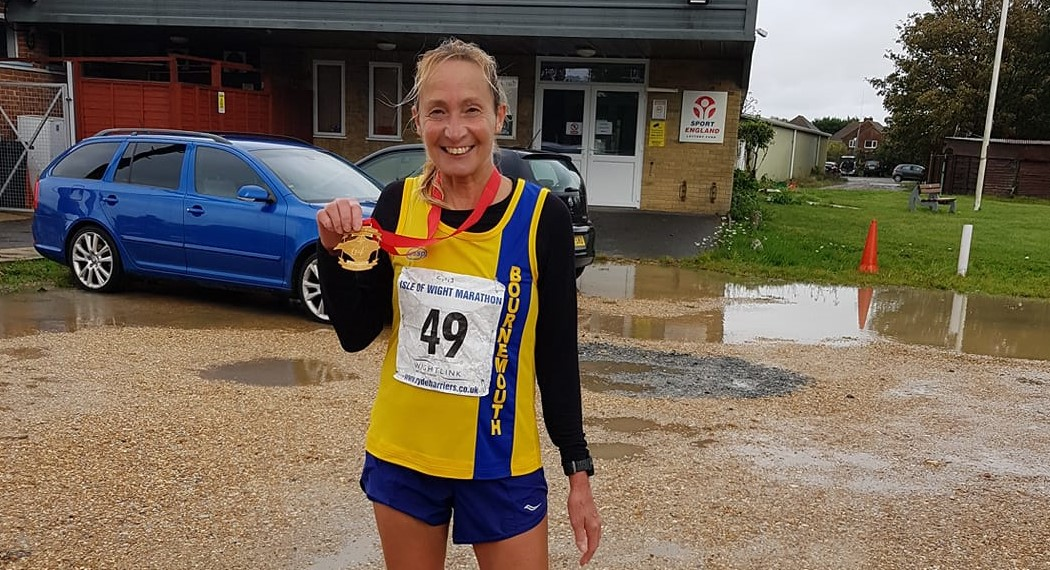 Heather defies inclement weather in Isle of Wight Marathon