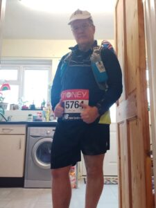 Julian Oxborough is ready to set off on his Virtual London Marathon