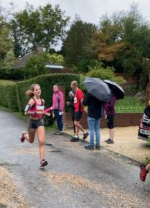 Martha Preece in the Clarendon Marathon Relay