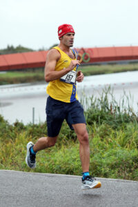 Rich Brawn in action at Dorney Lake Marathon