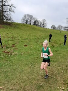 Emily Coltman in action in the South West Inter Couties XC Championships