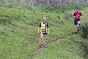 Helen Ambrosen competing in the Hellstone Half Marathon