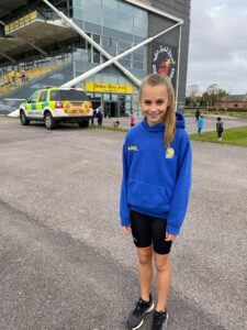Isabel Cherrett before competing in the Newbury Racecourse 5k