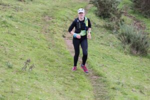 Kirsty makes her way along the trail