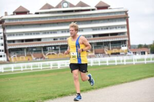 Phil Cherrett in action at the Newbury Racecourse 5k