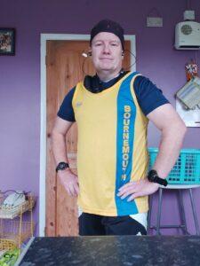 Julian Oxborough prepares for the Runderwear Virtual 10