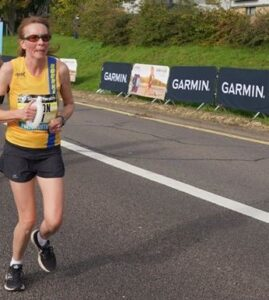 Alison Humphrey in the EA Virtual Road Relay