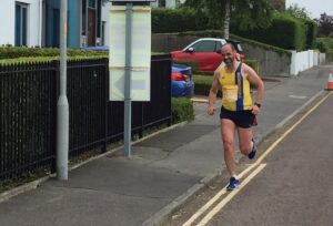 Ian White in the EA Virtual Road Relay