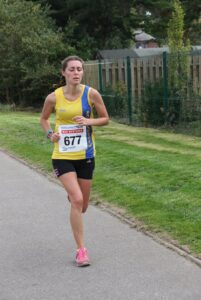 Tamzin Petersen in the EA Virtual Road Relay