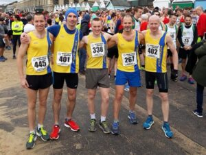 Bournemouth AC members at a real race
