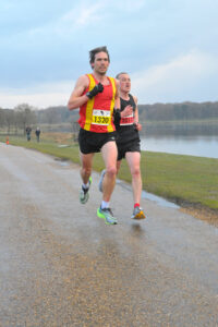 Josh Cole racing in the Tatton 10k
