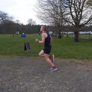 Josh approaches the finish of the Tatton 10k