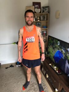 Trev Elkins prepares for the New Forest Off-Road 10k