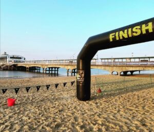The finish at Bournemouth Beach Race