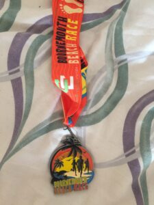 The Bournemouth Beach Race medal