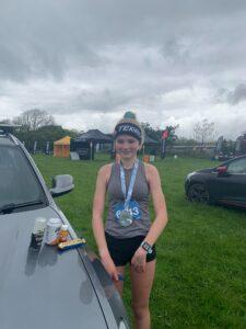 Emily Coltman after the Maverick Dorset 'Short' race
