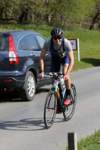 Harry on his bike in the Ashridge Duathlon
