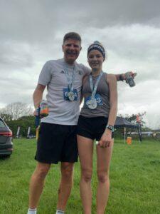 Jason and Emily Coltman after the Maverick Dorset 'Short' race