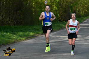 Tom Craggs with Annabel Granger at Run Cheshire