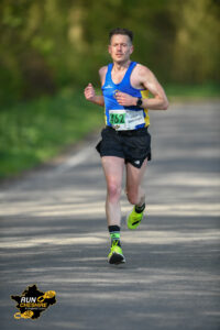 Tom Craggs coasting along in the Cheshire Elite Half Marathon