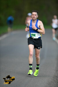 Tom pushes on through in the Cheshire Elite Half Marathon