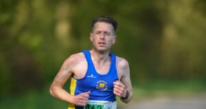 Tom Craggs in the Cheshire Elite Half Marathon