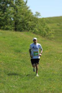 Adam Corbin in action in the Crafty Fox Half Marathon