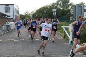 Adam Corbin gets his race underway