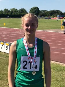 Amelia Verney wins medal at South of England AA Champs