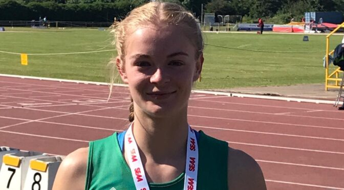 Amelia Verney at South of England AA Champs