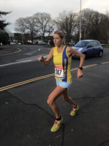 Emma Caplan on the run in The Huntsman Tri Duathlon