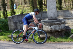 Harry Smith on the bike at The Huntsman Tri