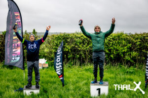 Harry on the podium at the TrailX Spring Off Road Duathlon