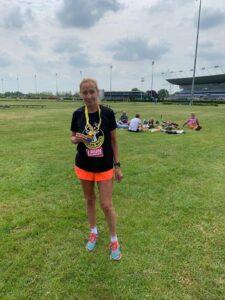 Heather Khoshnevis after the Kempton Park Marathon