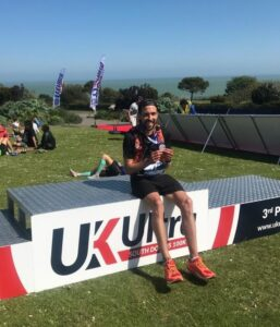 Pete Thompson after completing the South Downs 100k
