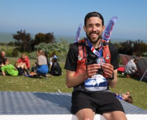 Pete Thompson after completing South Downs 100k