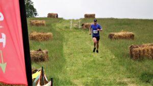 Alex makes his way through the hay
