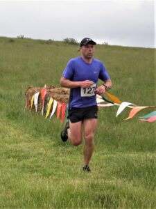 Alex Goulding on his way to second place in the Dorset Conquest Half Marathon