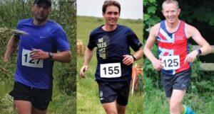 Alex, Steve and Stu in the Dorset Conquest Half Marathon