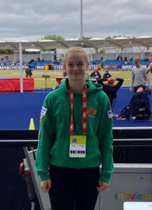 Amelia Verney at the British Championships