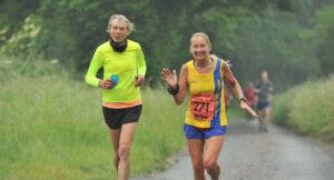 Caroline and Heather in the Hampshire Hoppit Marathon