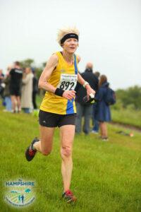 Debbie Lennon in the Hampshire Hoppit Marathon