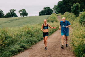 Emma heads along the trail in the Maverick Hampshire 16k race