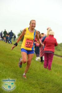 Heather Khoshnevis in the Hampshire Hoppit Marathon