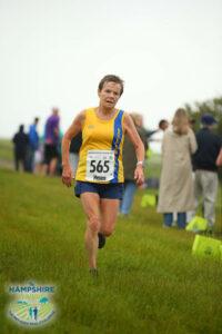 Helen Ambrosen in the Hampshire Hoppit Marathon