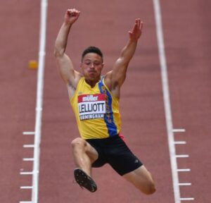 James Lelliott in the Long Jump at the British Championships