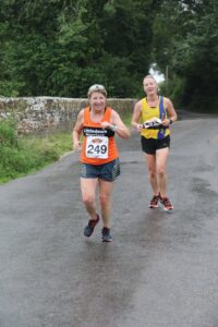 Karen Turton and Estelle in the Puddletown Plod Half Marathon