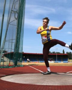 Phoebe Dowson in the Discus at the British Championships