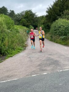 Rich Brawn and Bruce Campbell in the Puddletown Plod Half Marathon